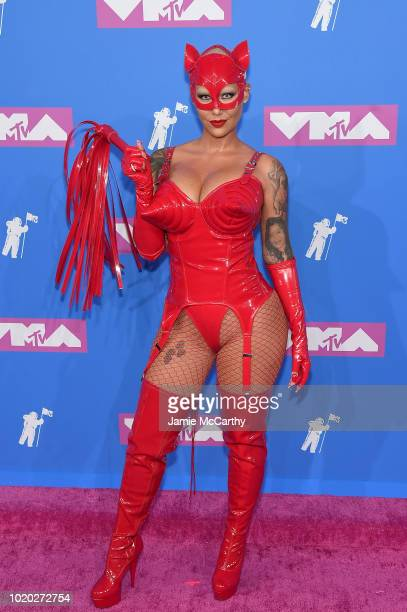 Amber Rose attends the 2018 MTV Video Music Awards at Radio City Music Hall on August 20, 2018 in New York City.