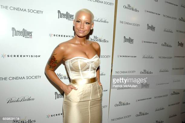 Amber Rose attends THE CINEMA SOCIETY BROOKS BROTHERS host a screening of ME AND ORSON WELLES at Chelsea Cinemas on November 23 2009 in New York City