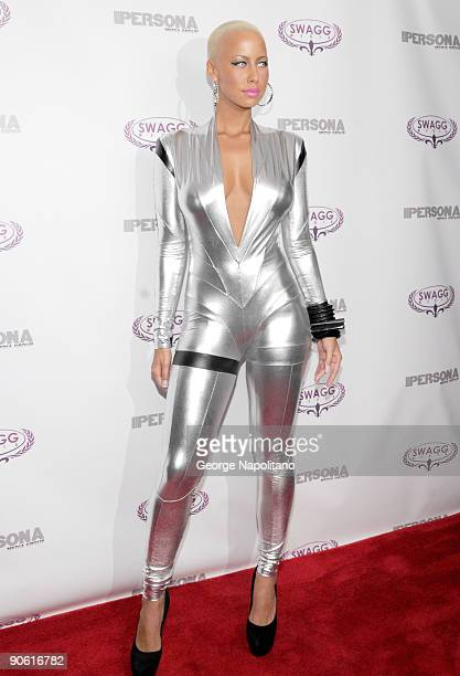 Amber Rose attends the launch of Persona magazine at The Griffin on September 11, 2009 in New York City.