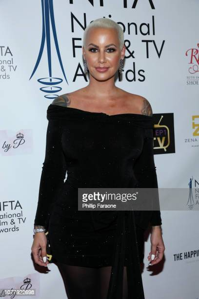 Amber Rose attends the National Film and Television Awards Ceremony at Globe Theatre on December 05 2018 in Los Angeles California