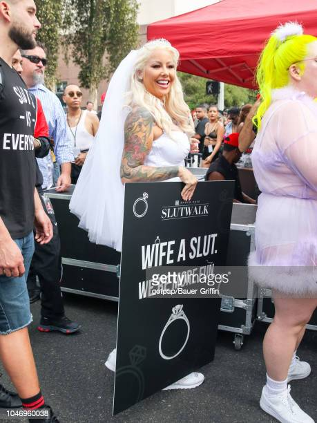 Amber Rose is seen attending the 4th Annual Amber Rose SlutWalk on October 06 2018 in Los Angeles California