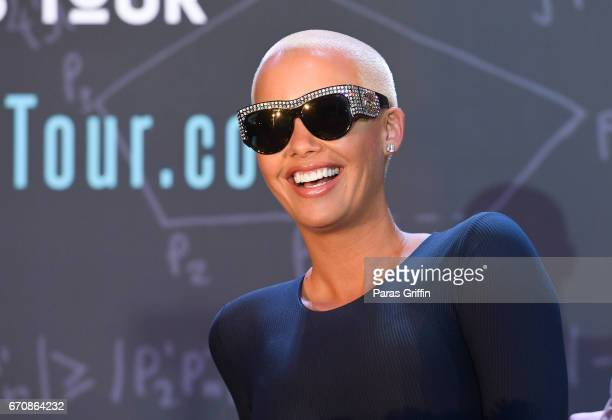 Amber Rose onstage at AHF Presents The Know Your Status Tour Atlanta at Clark Atlanta Univeristy on April 20 2017 in Atlanta Georgia