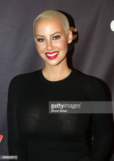 Amber Rose poses as Season 23 of 'Dancing With The Stars' meets the press at Planet Hollywood Times Square on September 7 2016 in New York City
