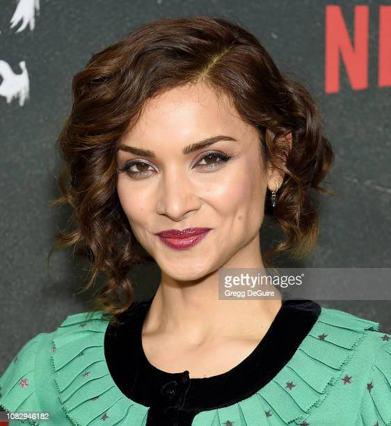 Amber Rose Revah arrives at Marvel's 'The Punisher' Los Angeles Premiere at ArcLight Hollywood on January 14 2019 in Hollywood California