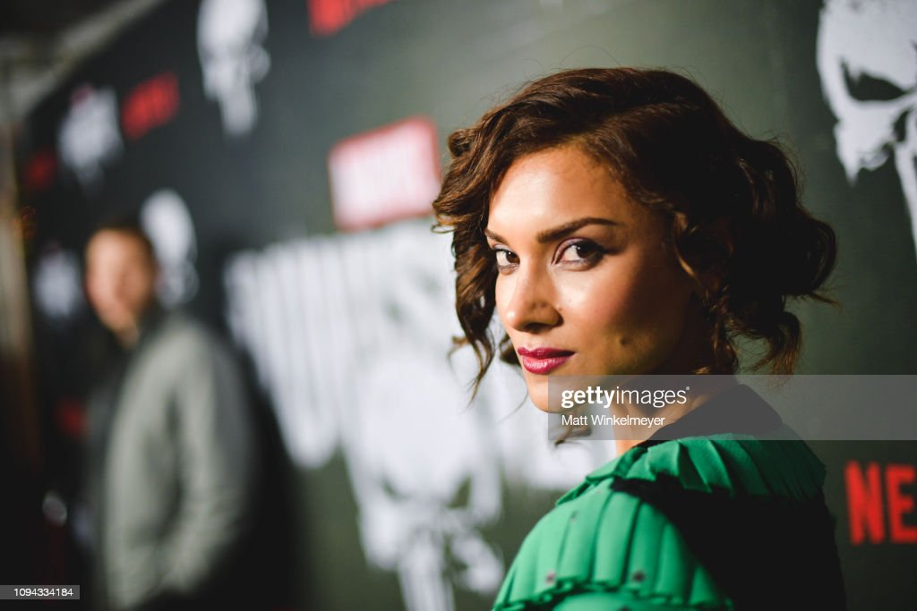 81f57dd4ba4 Amber Rose Revah attends Marvel s  The Punisher  Los Angeles ...