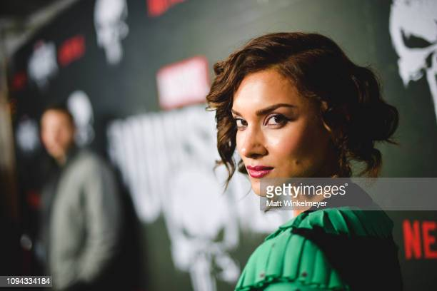 """Amber Rose Revah attends Marvel's """"The Punisher"""" Los Angeles Premiere at ArcLight Hollywood on January 14, 2019 in Hollywood, California."""