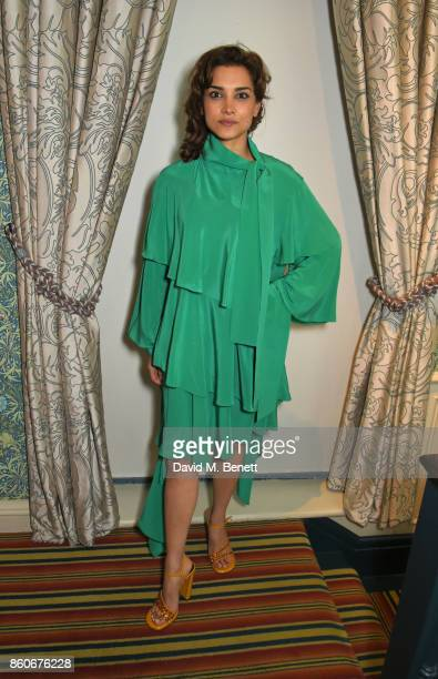 Amber Rose Revah attends the PORTER Lionsgate UK after party for 'Film Stars Don't Die In Liverpool' at Mark's Club on October 12 2017 in London...