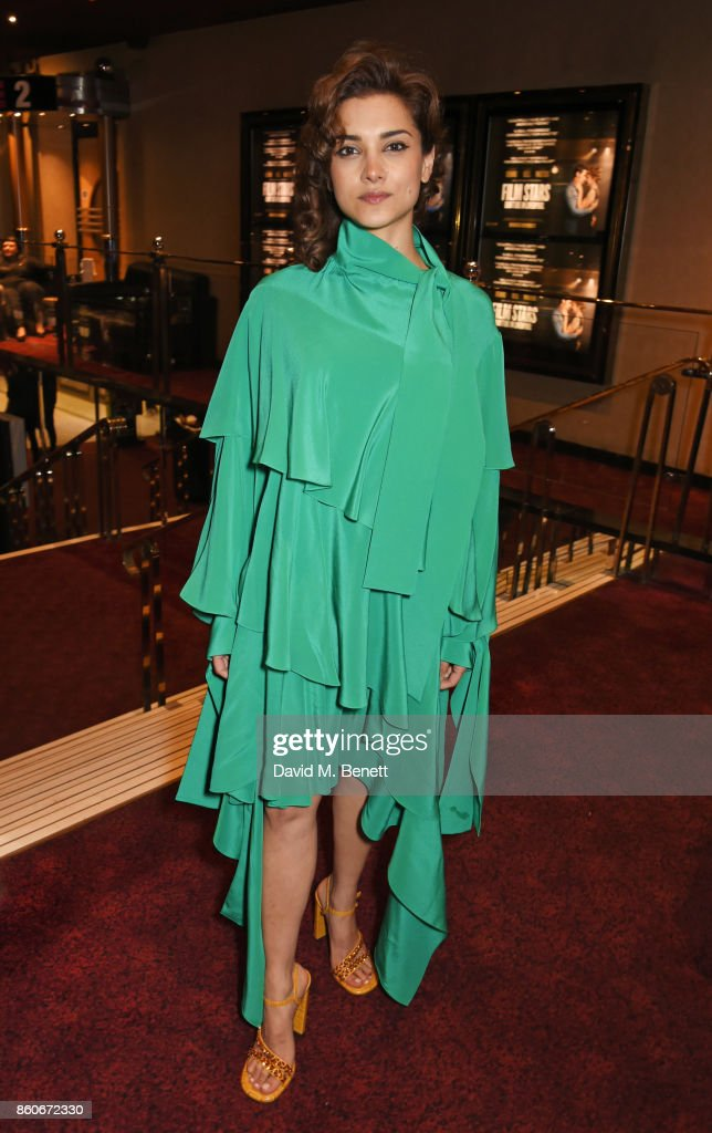 Amber Rose Revah attends the PORTER & Lionsgate UK screening of 'Film Stars Don't Die In Liverpool' at Cineworld Leicester Square on October 12, 2017 in London, England.