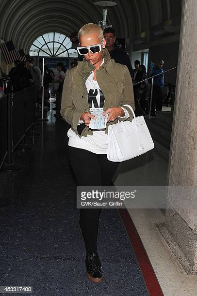 Amber Rose seen at LAX on August 07 2014 in Los Angeles California