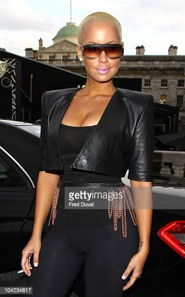 Amber Rose sighting during London Fashion Week on September 17, 2010 in London, England.