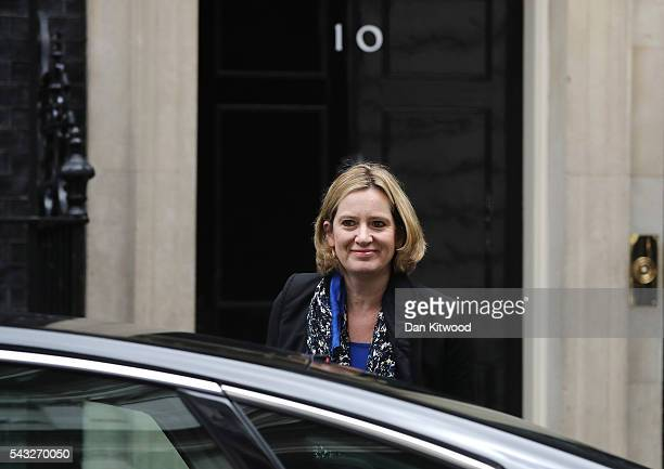 Amber Rudd Secretary of State for Energy and Climate Change arrives for a cabinet meeting at Downing Street on June 27 2016 in London England British...