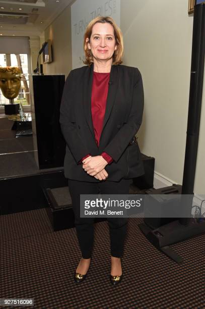 Amber Rudd Secretary of State for the Home Department attends Turn The Tables 2018 hosted by Tania Bryer and James Landale in aid of Cancer Research...