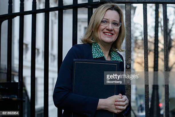 Amber Rudd UK home secretary arrives for a weekly cabinet meeting at 10 Downing Street in London UK on Tuesday Jan 17 2017 The UK is likely to pull...