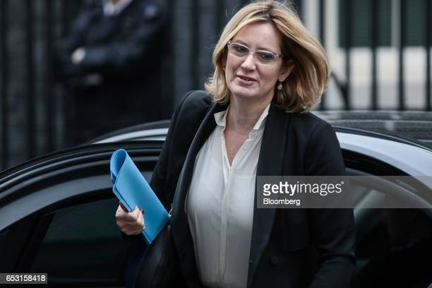 Amber Rudd UK home secretary arrives for a weekly cabinet meeting in Downing Street London UK on Tuesday March 14 2017 On Monday UK Prime Minister...