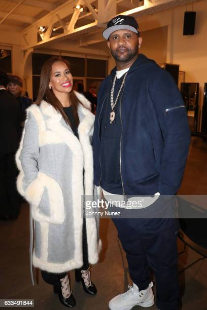 Amber Sabathia and CC Sabathia attend The Blue Jacket Fashion Show at NYFW Men's at Pier 59 on February 1 2017 in New York City