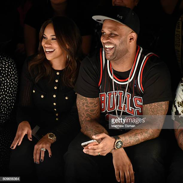 Amber Sabathia and CC Sabathia of the New York Yankees attend Rookie USA Presents Kids Rock Front Row Backstage Fall 2016 New York Fashion Week The...
