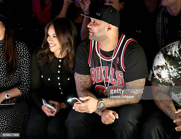 Amber Sabathia and MLB player CC Sabathia attend the Rookie USA Presents Kids Rock Fall 2016 fashion show during New York Fashion Week The Shows at...