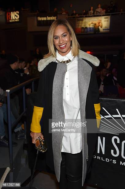 Amber Sabathia attends as Roc Nation Sports Presents throne boxing At The Theater At Madison Square Garden on January 9 2015 in New York City