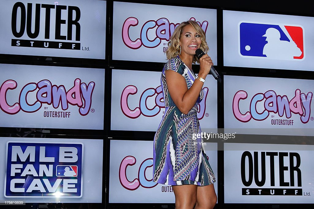 Amber Sabathia attends the CCandy Children's Clothing Line Launch at MLB Fan Cave on August 8, 2013 in New York City.