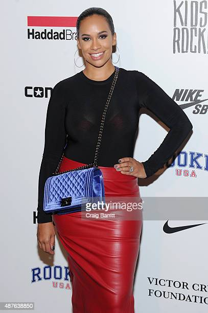 Amber Sabathia attends the Nike/Levi's Kids Rock fashion show during Spring 2016 New York Fashion Week at the The Dock Skylight at Moynihan Station...