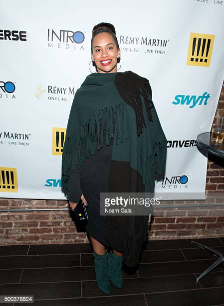 Amber Sabathia attends the Ty Hunter Emoji app launch on December 7 2015 in New York City