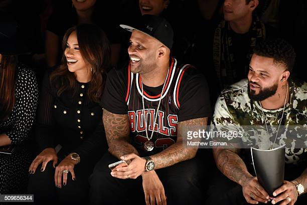Amber Sabathia CC Sabathia of the New York Yankees and Prince Fielder of the Texas Rangers attend Rookie USA Presents Kids Rock Front Row Backstage...