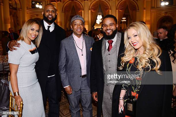 Amber Sabathia CC Sabathia Russell Simmons Prince Fielder and Chanel Fielder attend Russell Simmons' Rush Philanthropic Arts Foundation's annual Rush...