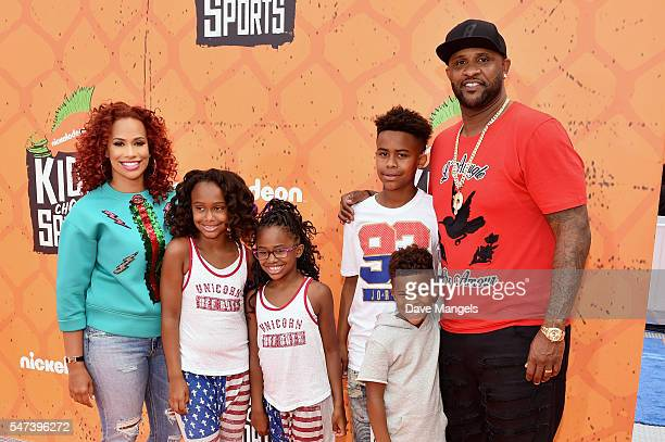 Amber Sabathia MLB player CC Sabathia and family attend the Nickelodeon Kids' Choice Sports Awards 2016 at UCLA's Pauley Pavilion on July 14 2016 in...