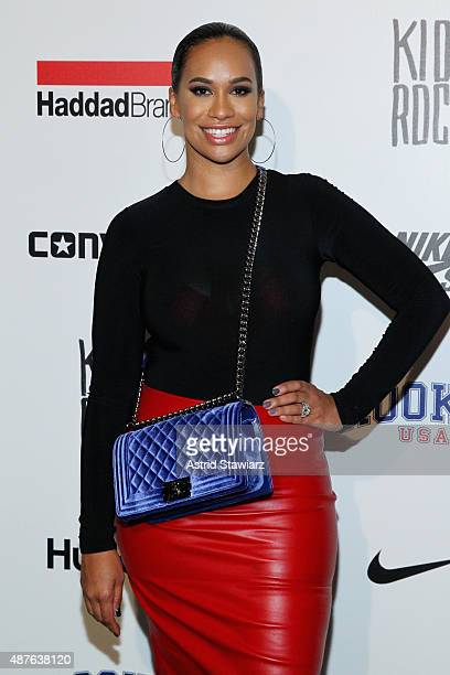 Amber Sabathia poses backstage at the Kids Rock fashion show during Spring 2016 New York Fashion Week The Shows at The Dock Skylight at Moynihan...