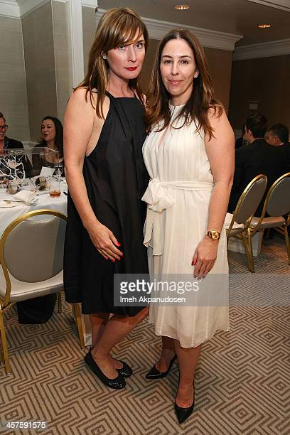 Amber Sakai and Karyn Lovegrove attend LA Confidential and Ballroom Marfa Honoring LA's Prominent And Emerging Artists at The London West Hollywood...