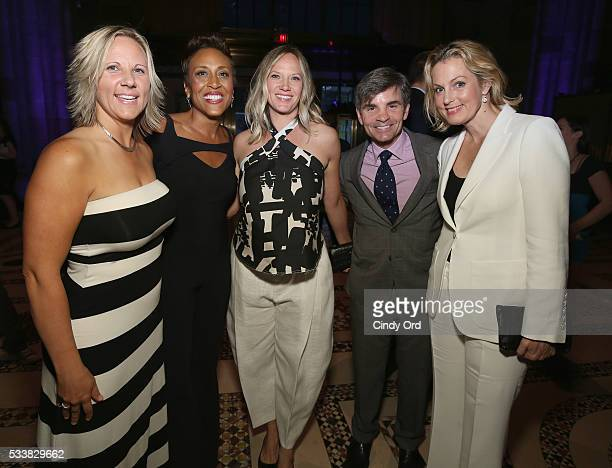 Amber Schweitzer Robin Roberts Amber Laign George Stephanopoulos and Ali Wentworth attend the GLSEN Respect Awards at Cipriani 42nd Street on May 23...