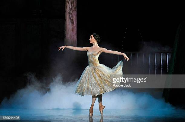 Amber Scott as Cinderella in Australian Ballet's production of Alexei Ratmansky's Cinderella at The Coliseum July 20 2016 in London England