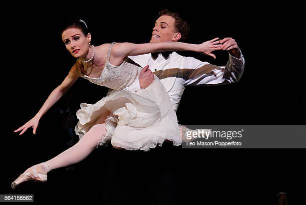 Amber Scott as Odette and Adam Bull of Prince Siegfried of The Australian Ballet company performing SWAN LAKE at the Coliseum on July 13, 2016 in...