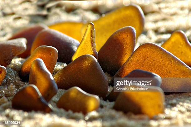 Amber Sea Glass Collection