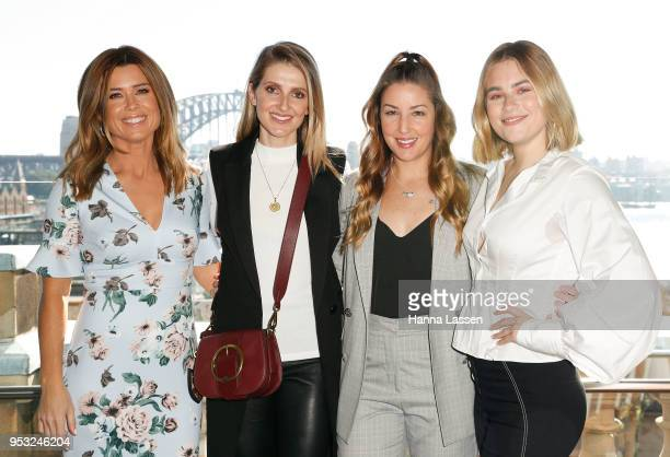 Amber Sherlock Kate Waterhouse Jules Sebastian and Carissa Walford attend the launch of Elle Halliwelll's book 'A Mother's Choice' on May 1 2018 in...