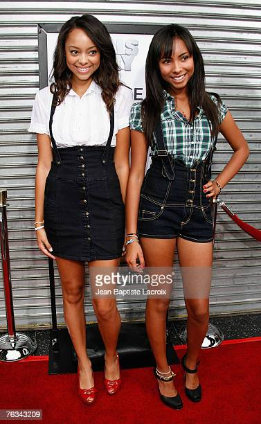 Amber Stevens and actress Chyna Stevens attends the Los Angeles premiere of Rogue Pictures' Balls Of Fury at The Egyptian Theater on August 25 2007...