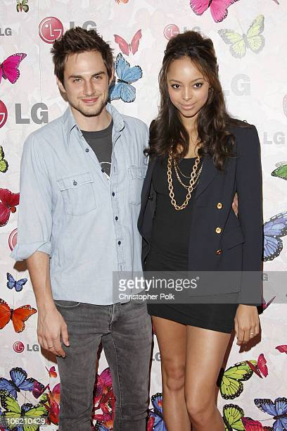 Amber Stevens and Andrew West arrive to the LG Rumorous Night Launch Party at the Andaz Hotel in West Hollywood CA on April 29 2009