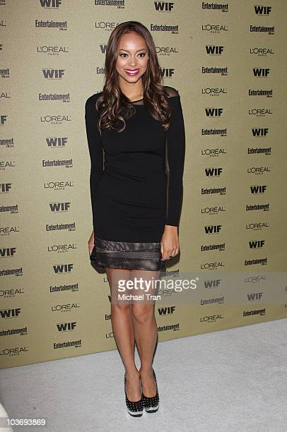 Amber Stevens arrives at the Entertainment Weekly and Women In Film preEMMY party held at The Sunset Marquis Hotel on August 27 2010 in West...