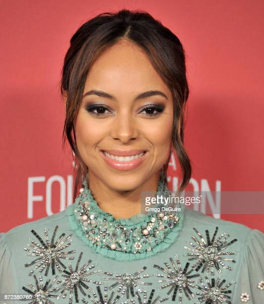 Amber Stevens West arrives at the SAGAFTRA Foundation Patron of the Artists Awards 2017 on November 9 2017 in Beverly Hills California