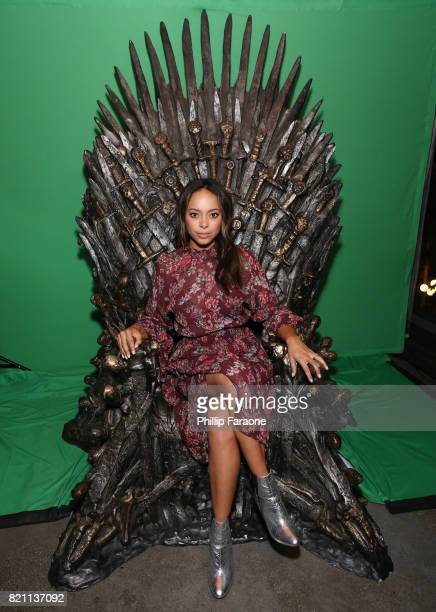 Amber Stevens West at Entertainment Weekly's annual ComicCon party in celebration of ComicCon 2017 at Float at Hard Rock Hotel San Diego on July 22...