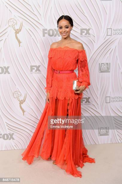 Amber Stevens West attends FOX Broadcasting Company Twentieth Century Fox Television FX And National Geographic 69th Primetime Emmy Awards After...