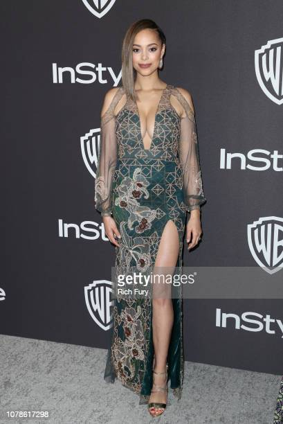 Amber Stevens West attends the InStyle And Warner Bros Golden Globes After Party 2019 at The Beverly Hilton Hotel on January 6 2019 in Beverly Hills...