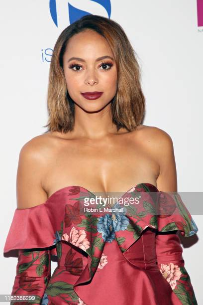 Amber Stevens West attends the National Breast Cancer Coalition's 19th Annual Les Girls at Avalon Hollywood on October 20, 2019 in Los Angeles,...