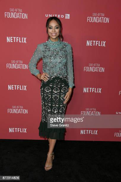 Amber Stevens West attends the SAGAFTRA Foundation Patron of the Artists Awards 2017 at the Wallis Annenberg Center for the Performing Arts on...