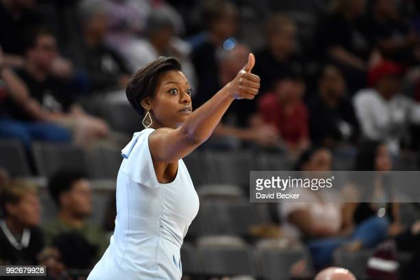 Amber Stocks of the Chicago Sky during the game against the Las Vegas Aces on July 5 2018 at the Mandalay Bay Events Center in Las Vegas Nevada NOTE...