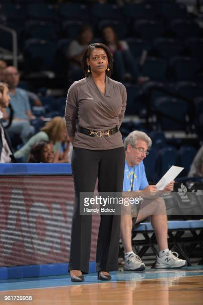 Amber Stocks of the Chicago Sky looks on during the game against the Atlanta Dream on May 23 2018 at the Wintrust Arena in Chicago Illinois NOTE TO...