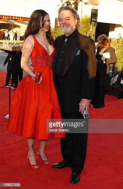 Amber Tamblyn and father Russ Tamblyn during The 30th Annual People's Choice Awards Arrivals at Pasadena Civic Auditorium in Pasadena California...