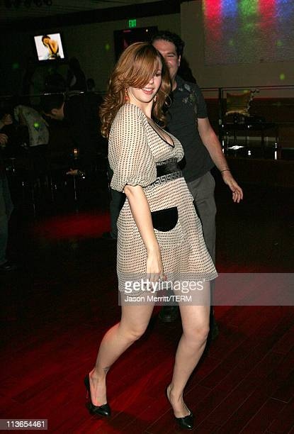 Amber Tamblyn and guest during Us Weekly Presents Us' Hot Hollywood 2007 Inside at Sugar in Hollywood California United States