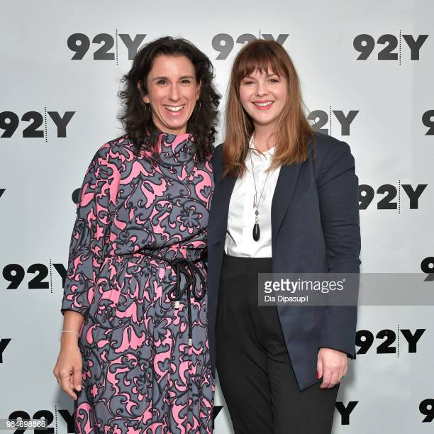 Amber Tamblyn and Jodi Kantor attend Amber Tamblyn Any Man Book Release Conversation with Jodi Kantor at 92nd Street Y on June 26 2018 in New York...