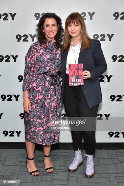 Amber Tamblyn and Jodi Kantor attend Amber Tamblyn 'Any Man' Book Release Conversation with Jodi Kantor at 92nd Street Y on June 26 2018 in New York...